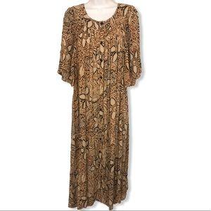 NWT Macy's Go Softly Patio Maxi Dress large l